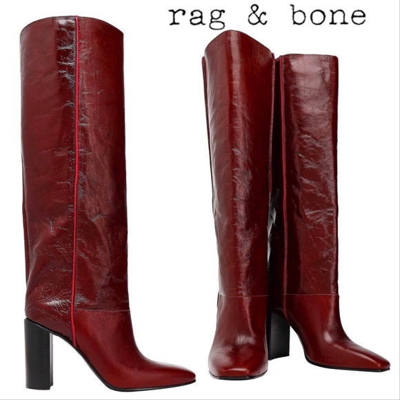 rag & bone Shoes - Rag & Bone Aslen Tall Boots Mahogany